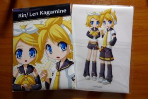 Rin Len Kagamine notepad by linlilian