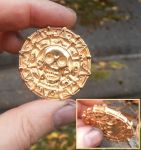 Pirates two-sided gilt sterling silver coin by fairyfrog