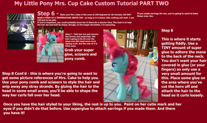 My Little Pony Mrs. Cake Custom TUTORIAL  PART TWO by maybecatie