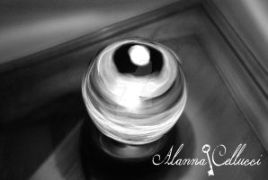 Disco Ball In Black and White by alannac1122