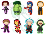 Avengers Keychain by MySirJelly