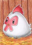 ACEO #140 - Harvest Moon Huhn by Elythe