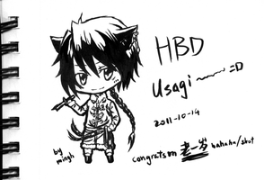 HBD to usagi by minghii