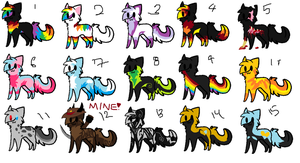 Cat adopts 3 points each 4 LEFT! by swiftstar11