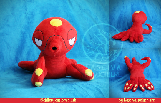 Octillery custom plush by Peluchiere