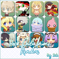 Pack de Renders Anime Chibi by Sick by AndrogynousPunky