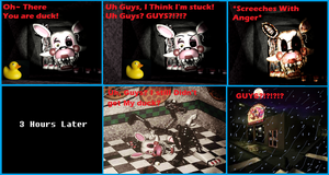 Fnaf Mangle and the Duck! by GFcrazy