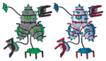 Magneton Ferroseed/thorn Fusion by Axel-Comics