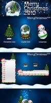 Merry X'mas 2010 icons by JOMMANS