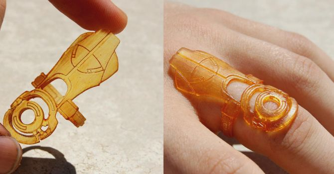 Mass Effect Omni Tool Ring by ammnra