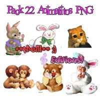 Pack 22 Animalitos PNG by Antivil