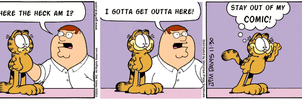 Family Guy Garfield Crossover by worthlesscrap