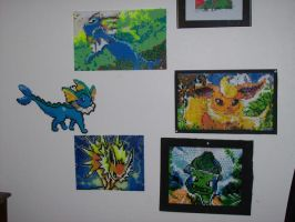 The eevee wall so far by echaltraw