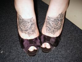 Rose Tattoo Feet by strappingyoungfran