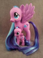 MLP: FiM - filly and FS Flitterheart - customs by hannaliten