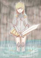 knight in the rain by cartoonmaniack