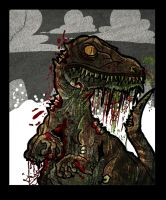 Zombie raptor by DoctorJT