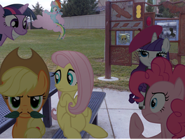 My little Fluttershy: Freinds At the Park PART 3 by JudgementMaster