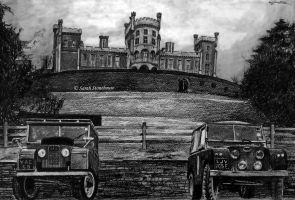 Landrovers and Castle Commission by ScenicSarah