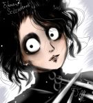 Edward Scissorhands rough sketch by Scootie-chan
