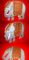 Indian Elephant Card by Shadowoftheredrose