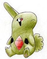 Larvitar by ShrubSparrow