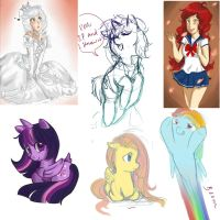 Sketchdump 2 by shayleewolf