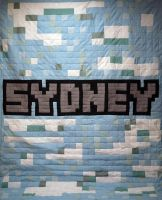 Minecraft Textures Sky Name Quilt by 8bitHealey