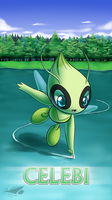Pokemon 20th Anniversary- Celebi by Sol-Lar-Bink