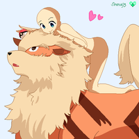 Arcanine Love Base by Sirena93