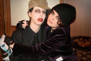 Marilyn Manson and Ville Valo by MigraineSky