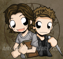 Sam and Dean - Supernatural by amy-art