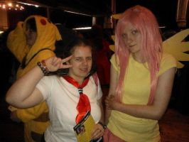 Me with Fluttershy cosplayer ^_^ by OtakuRhi