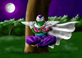 Piccolo meditating by Ferntree