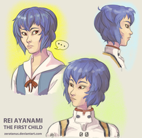 Face Experiement - Rei by zeratanus