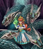 Scylla SMITE Fan Art by JohnVegaArt