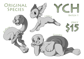 [YCH] Original Species - Batch 1 by StyxLady