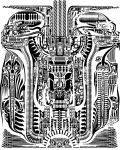 H.R. Giger Tile by Mutronics