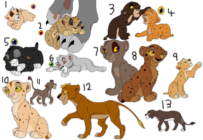 Lion cub adoptables 4 (3 points) by lumpadoodle