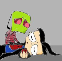Sad Invader Zim- Untitled by Coraline15