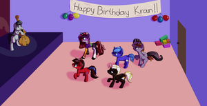 Krans birthday party - Commission by Aramande