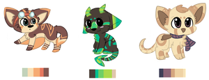 Cute Creatures Adoptable Auction - All Closed by KittKattAdoptables