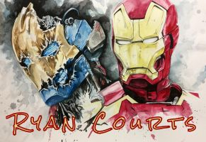 Iron Man and Ultron by courts94s