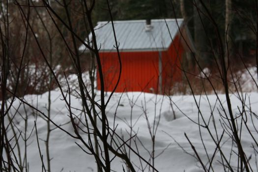 red hut by knilvrie