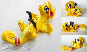 Ilios - the sunny yellow griffin by CalicoGriffin