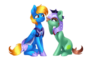 Medal and Azure by Scarlet-Spectrum