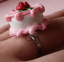 Pink Strawberry Cake Ring 2 by FatallyFeminine