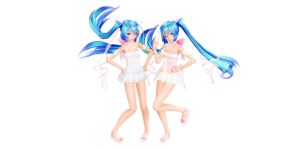 Tda Miku White Dress (Download model) by YamiSweet