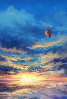 The Sky and Me by PyriteKite