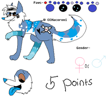 5 POINT Wolf Adoptable Taken by CCMacoroniAdoptables